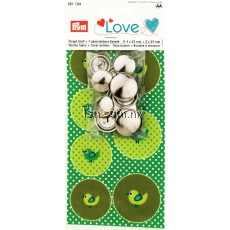 Love Button Fabric Bird + 7 Buttons