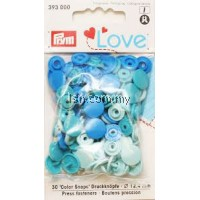 Love Color press fasteners blue 12.4mm