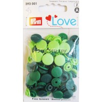 Love Color press fasteners Green 12.4mm