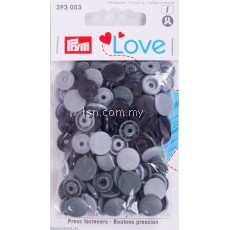 Love Color press fasteners Grey 12.4mm