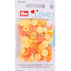 Love Color press fasteners Yellow 12.4mm