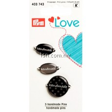 Love Handmade Pins Grey