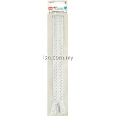 Love Zip Fastener 20cm White