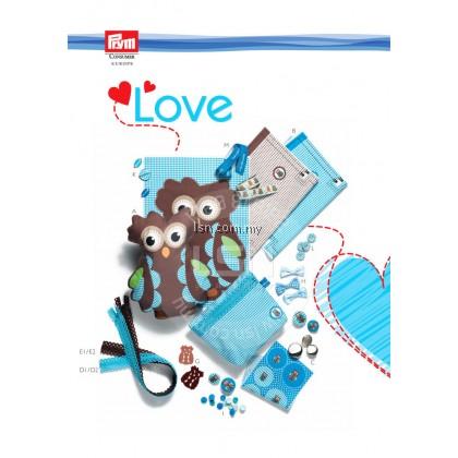 Love Zip Fastener 20cm Blue Turquoise