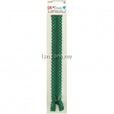 Love Zip Fastener 20cm Emerald