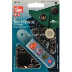 Non-sew press fasteners SPORT & CAMPING antique steel col 15mm