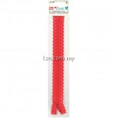Love Zip Fastener 20cm Red