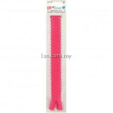 Love Zip Fastener Pink 20cm