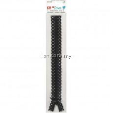 Love Zip Fastener 40cm Black
