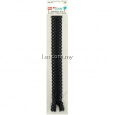 Love Zip Fastener 40cm Graphite