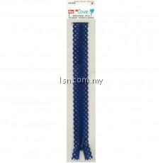 Love Zip Fastener 40cm Lilac