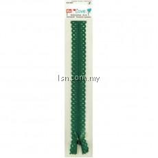 Love Zip Fastener 40cm Emerald