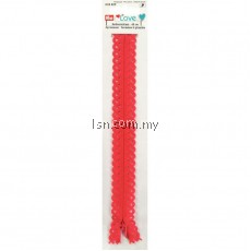 Love Zip Fastener 40cm Red