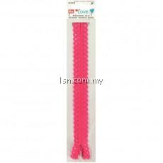 Love Zip Fastener 40cm Pink