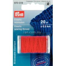 Elastic sewing thread