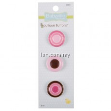 Boutique Buttons Pink Dots
