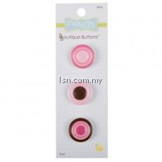 Boutique Buttons Pink Dots