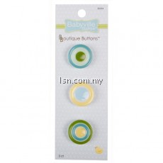 Boutique Buttons Yellow Dots