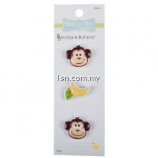Boutique Buttons Monkey and Bananas