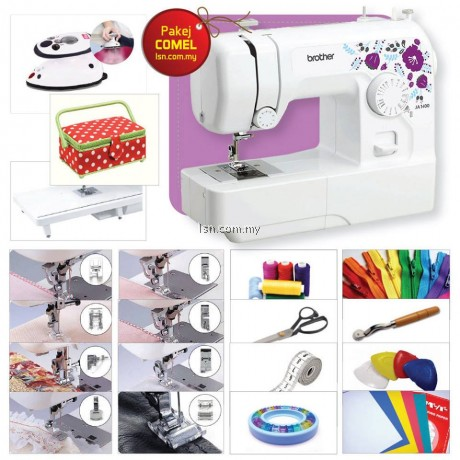 Package COMEL - Brother JA1400 Sewing Machine with Accessories Set