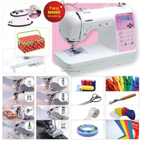 Package MANIS - Brother NV55P Computerised Machine with Accessories Set