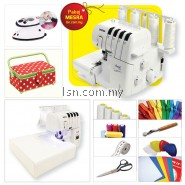 Mesin jahit Pakej MESRA - Brother 2104D Overlock Machine with Accessories Set