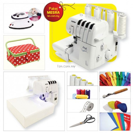Pakej MESRA - Brother 2104D Overlock Machine with Accessories Set