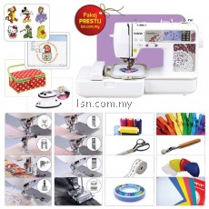 Mesin jahit Package PRESTIJ - Brother NV955 Sewing & Embroidery Machine with Accessories Set