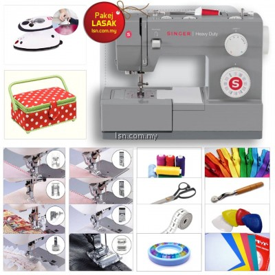 Package LASAK - Singer 4432 Heavy Duty Sewing Machine with Accessories Set
