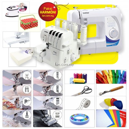 Mesin jahit Package HARMONI - Brother GS2700 Sewing & 2104D Overlock Machine with Accessories Set