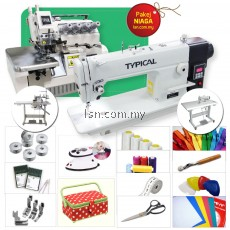 Pakej Niaga (2-in-1) Typical Direct Drive Industrial Lockstitch & Overlock Sewing Machine