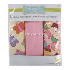 Sweet Stuff Butterflies And Cupcakes Assorted PUL Packaged Fabric