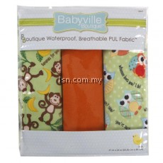 Playful Friends Monkey And Hoot Assorted PUL Packaged Fabric