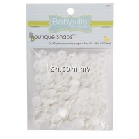 White Solid Colored Snaps Size 20