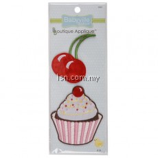 Cupcake and Cherry Appliques
