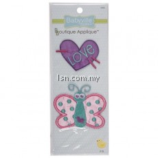 Butterfly And Heart Appliques