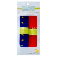Stars And Solid Red Fold Over Elastic