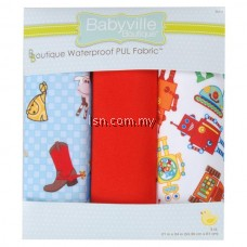 Cowbaby And Robots PUL Packaged Fabric