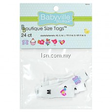 Girl Size Tags Printed Designs