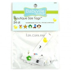 Gender Neutral Size Tags Printed Designs