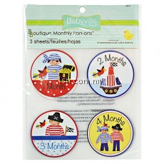 Little Pirates Design Monthly Iron Ons