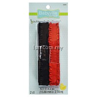 Red And Black Ruffled Elastic