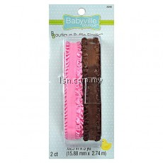 Brown And Pink Ruffled Elastic