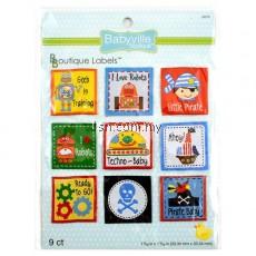 Boy Little Pirates And Robots Design Labels