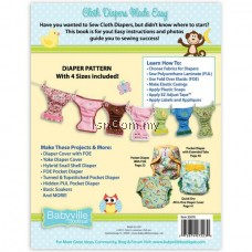 Cloth Diapers Made Easy Pattern And Instruction Book