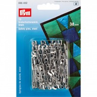 Safety Pins with coil No. 2 silver col 38mm