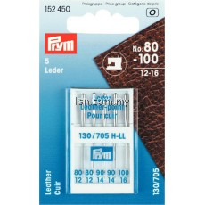 Sewing Machine Needles Sys. 130/705 LEATHER 80-100