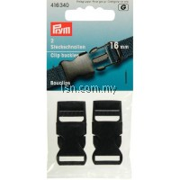 Clip buckles plastic 16mm black