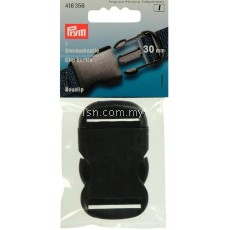 Clip buckle plastic 30mm black