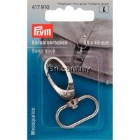 Snap Hook 25 mm silver color